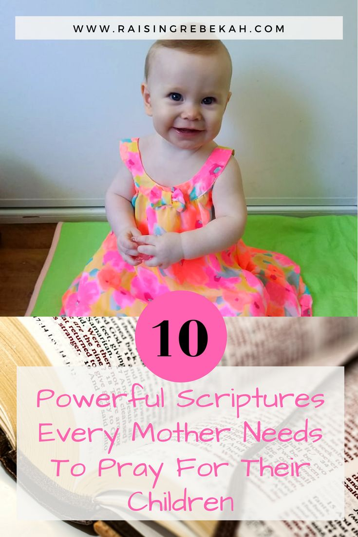 Do you, as a mother, struggle with the right words to say in God to prayer? Or am unsure about which scriptures to pray about for your children? Here are 10 powerful scriptures that every mother needs to pray for their children...