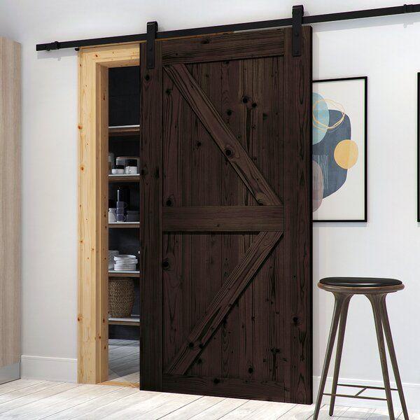 Paneled Wood Finish Northbeam Barn Door With Installation Hardware Kit Puertas De Madera Rusticas Puertas De Madera Puertas