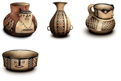 Diaguita Ceramic Bowl Icons