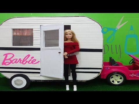 Barbie Camper DIY How to make a doll Camper - YouTube