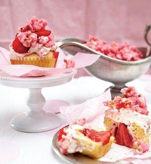 Erdbeermuffins mit Popcorn