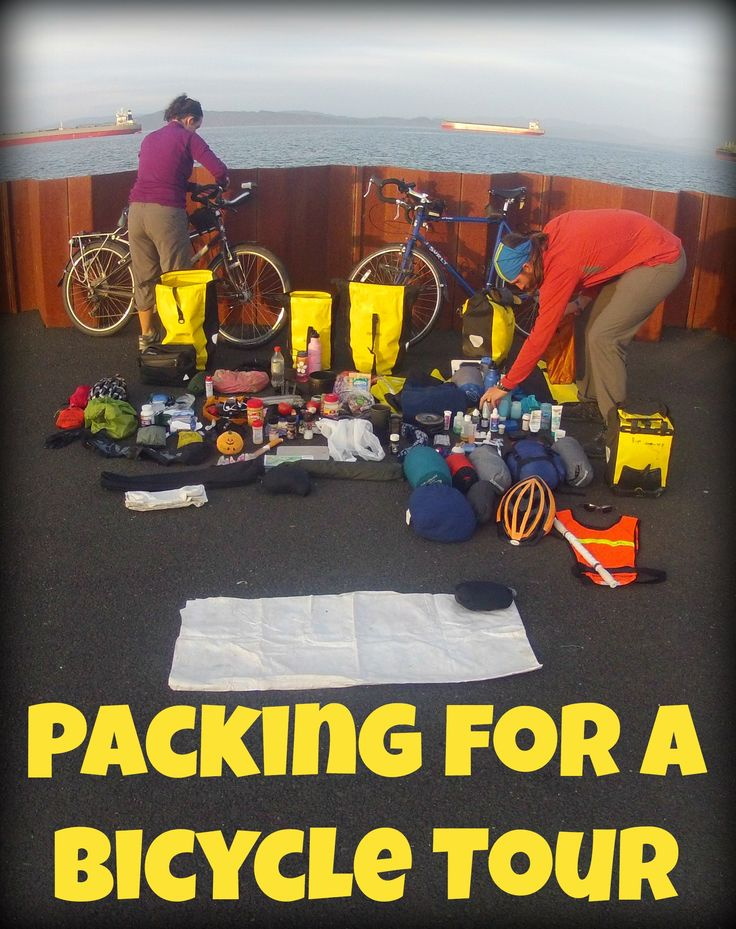 Great packing list for a bike tour!  #tour #bicycle #packing