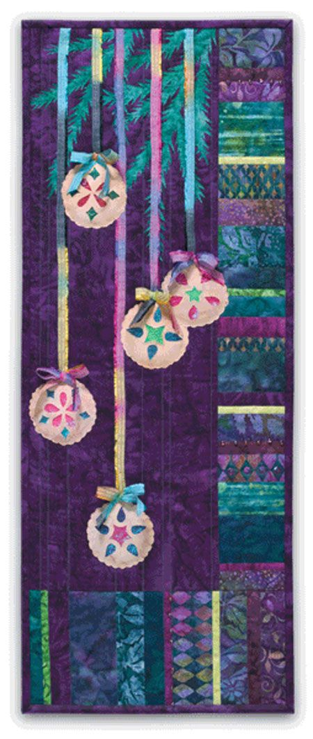 """""""Pieced Navidad"""" by McKenna Ryan. Love the colors and fabrics on this."""