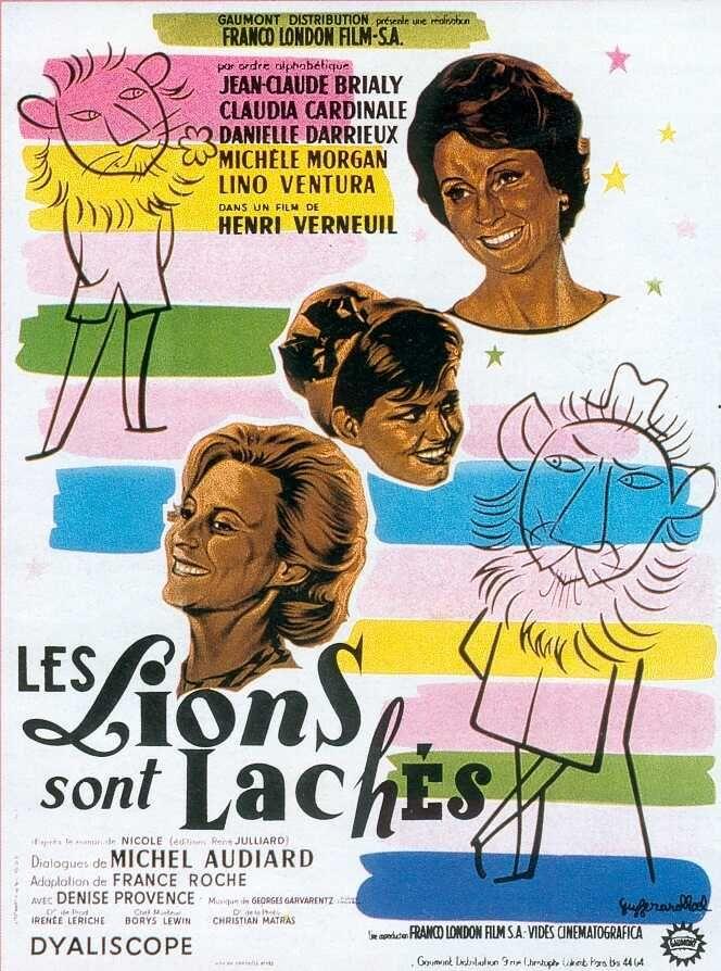Les Lions sont lâchés est un film d'Henri Verneuil sorti en 1961, d'après le roman de Nicole, avec des dialogues de Michel Audiard. assée par sa vie en province et son mari, Albertine vient à Paris pour se divertir. Elle est accueillie par son amie Cécile qu'elle admire. Albertine fait connaissance d'un jeune romancier à la mode dont elle tombe amoureuse. Ils passent du temps ensemble, mais le jeune homme doit s'éloigner quelque temps pour écrire son roman. La jeune femme oscillera alors…