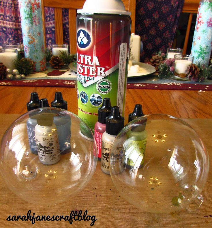 diy alcohol ink glass ornaments