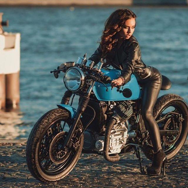Cuir Cafe Racer Femme