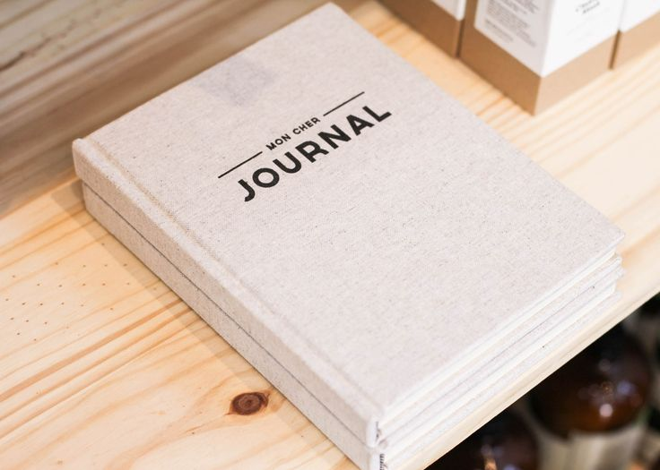 Linen covered, lined journal.