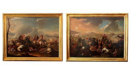 coppia di battaglie antiche Antiquariato su Anticoantico