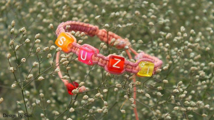 Macramé bracelet with name