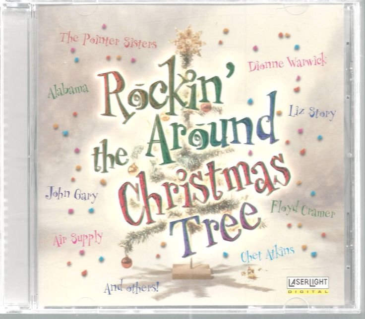 Rockin' Around Christmas Tree CD 1998 Alabama Chet Atkins Dionne Warwick #Christmas