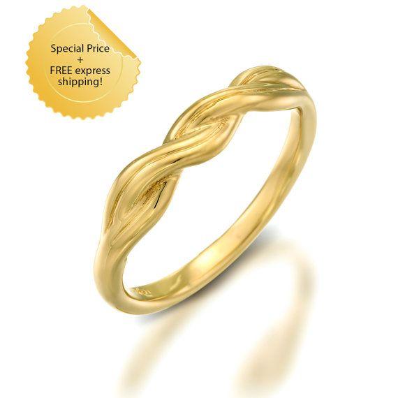 Verkauf geflochten Ehering geflochten Ehering solid von GOLDnBERG