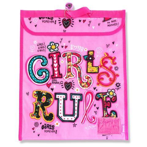A 55 - Spencil Homework Bag / Book Bag - Girls Rule - School Depot NZ  - 1