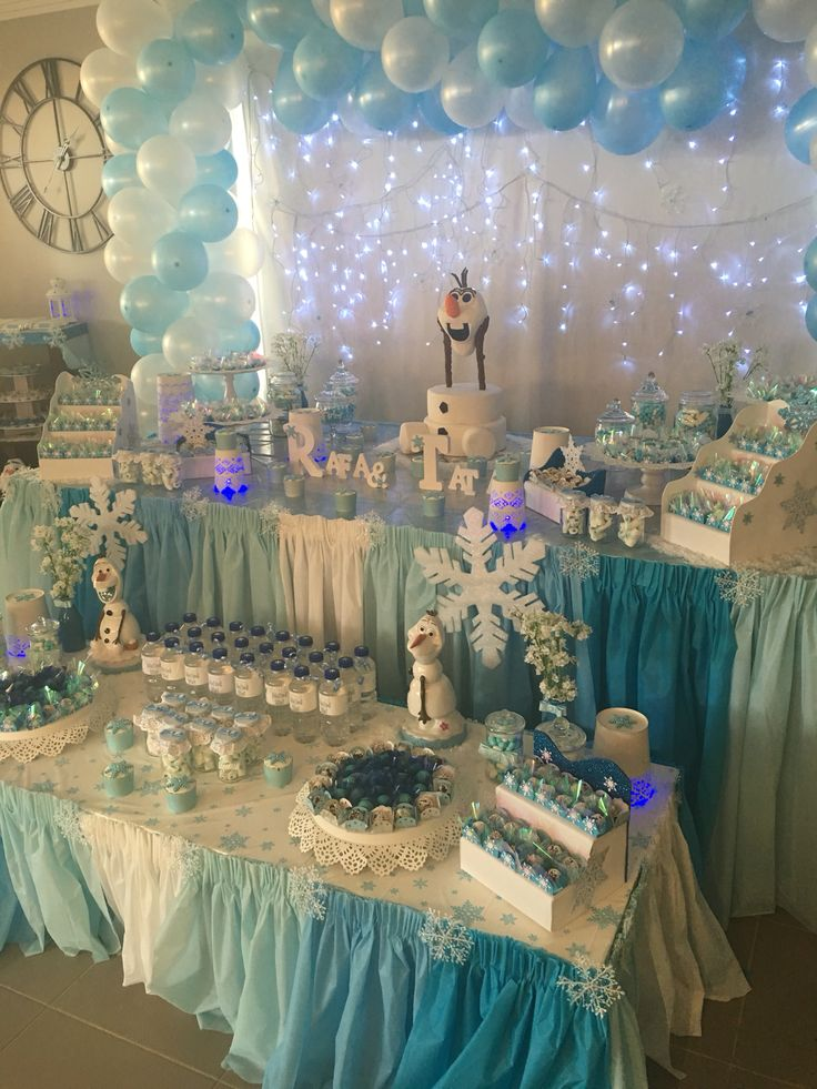 Idea para decorar una fiesta temática Frozen
