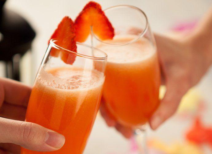 Cocktail de champán y fresas para #Mycook…