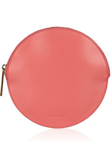 Jil Sander Circle Leather Clutch -- I need this immediately!
