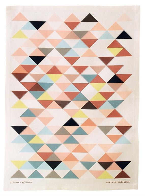 Royal Hawaiian Triangles Tea Towel: April Loreti, Hawaiian Triangles, Tea Towels, Pattern, Color, Teas, Triangles Tea, Royal Hawaiian