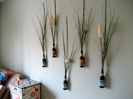 ahhh i love this so awesome beer and flower wall decor ) & 8 best Craft Ideas images on Pinterest | Craft ideas Décor ideas ...