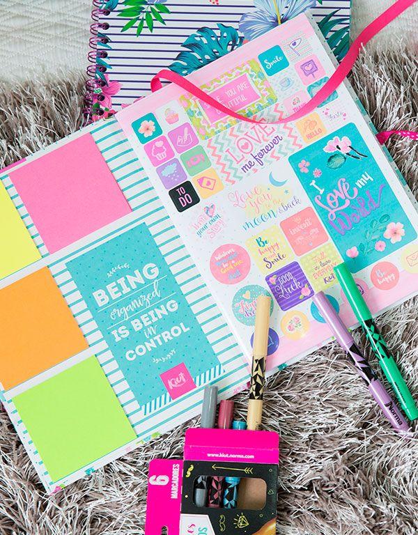 Libretas, planeadores y scrapbooks de Kiut, únicos para niñas y mujeres que siempre se preocupan por el diseño y los detalles.