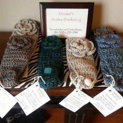 Crocheted Headbands, Earwarmers, Headwraps on Etsy, $12.00