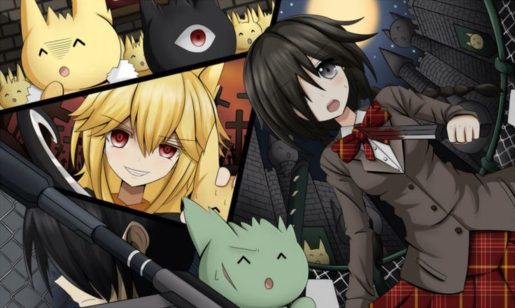 """Mogeko castle- one of the more fun """"scary"""" free rpgs. It is pretty gruesome, and a tad inaprop, but I love how Defect Mogeko, your sidekick, has an awesome huge bazooka."""