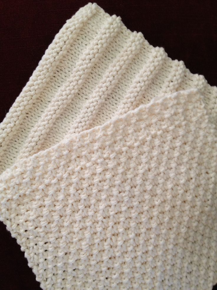 Wash Cloth Quartet - for Beginning Knitters