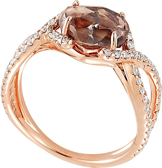 Unity ring featuring a 2.27ct rough diamond accented with 0.42cts of micro pavé in 18k pink gold. That diamond!