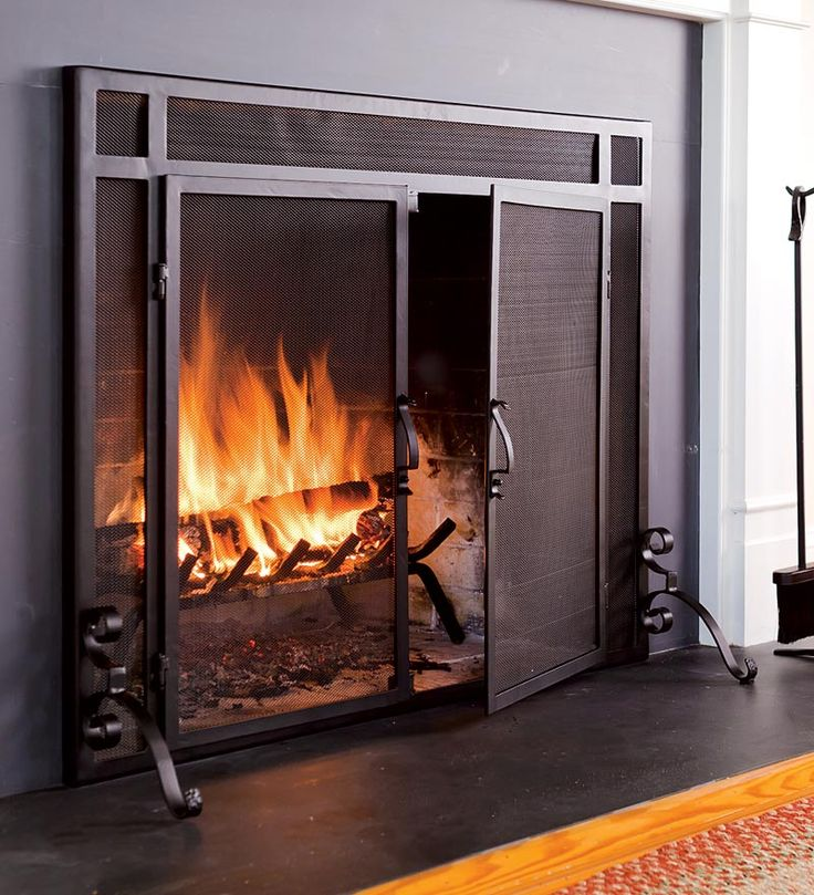 Fireplace screeens | Choosing fireplace doors/screen - Home Decorating & Design Forum ...