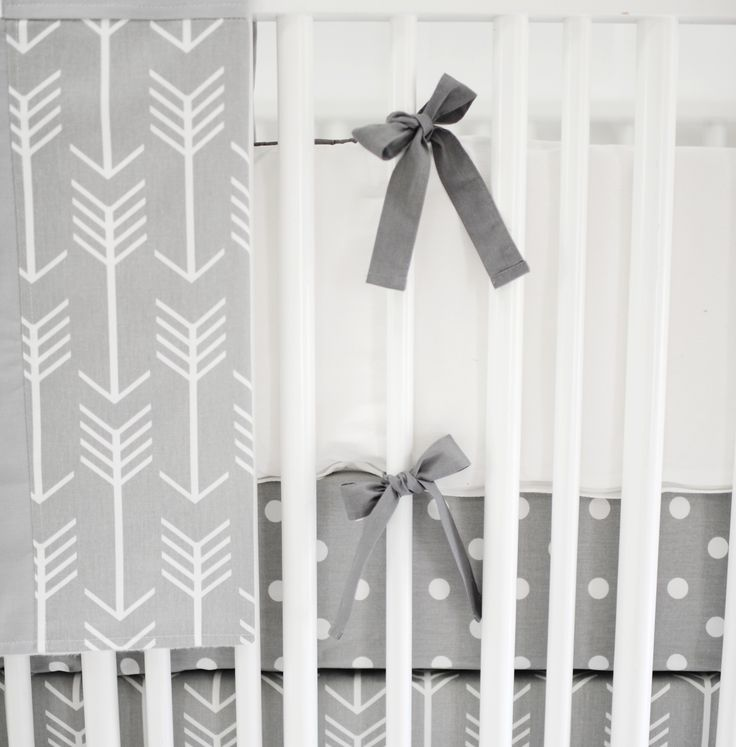 Crib Bumpers | White Crib Bumpers | Gray Crib Bumpers
