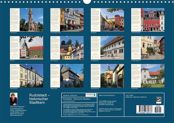 """Städte- und Regionalkalender """"Rudolstadt – mein Spaziergang durch den historische Stadtkern"""", Kalenderblatt Index"""