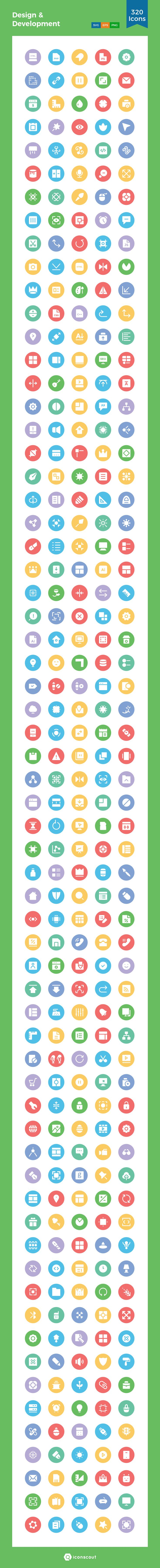 Design & Development  Icon Pack - 320 Solid Icons