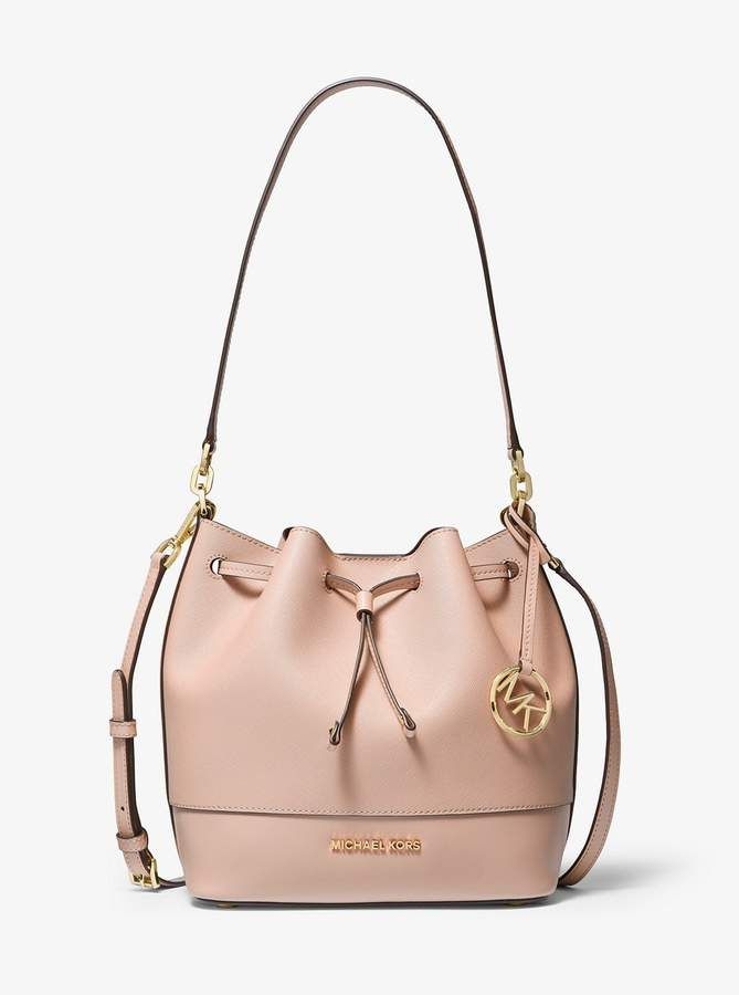d14284681f MICHAEL Michael Kors Trista Medium Saffiano Leather Messenger Bucket Bag,  Handbag Accessories, Designer Handbags