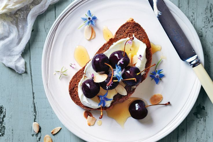 We love the tang of cherries that pops alongside the creamy labne. If you've never made labne before, give it a go - it couldn't be easier!