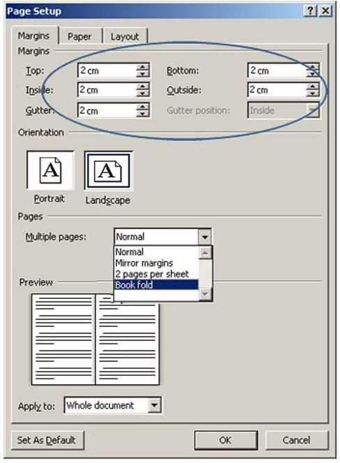 how to create a booklet using word