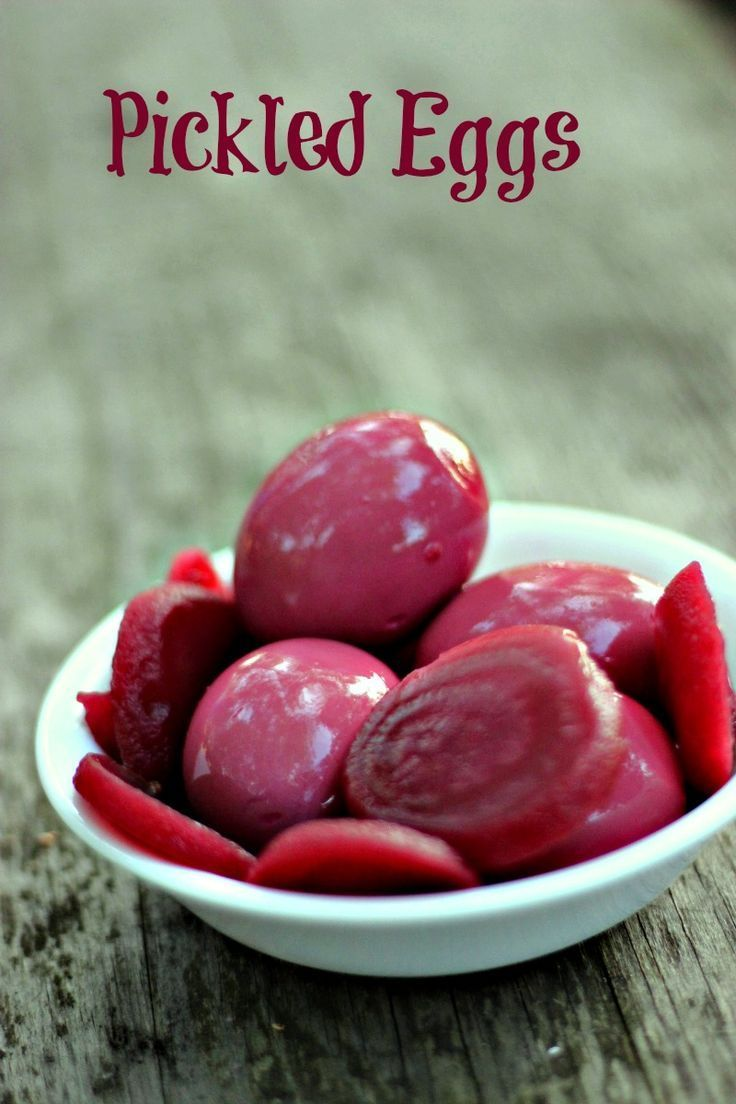 Pickled Red Beet Eggs Recipe from Mom! via @Just 2 Sisters
