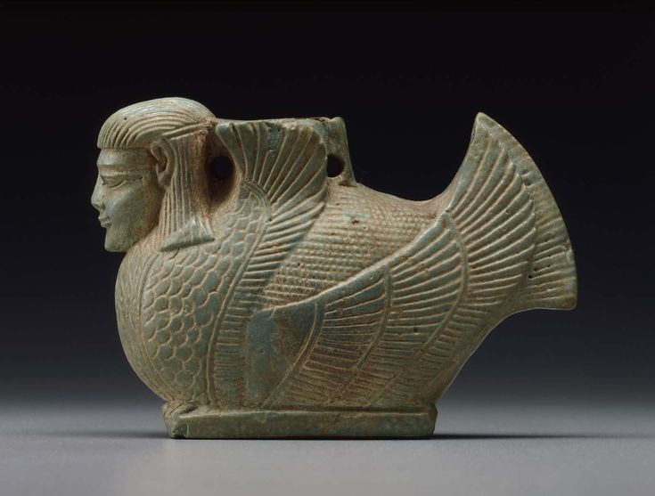 Oil flask (alabastron) in the form of a siren about 575 B.C.  Greek Mythology | Museum of Fine Arts, Boston
