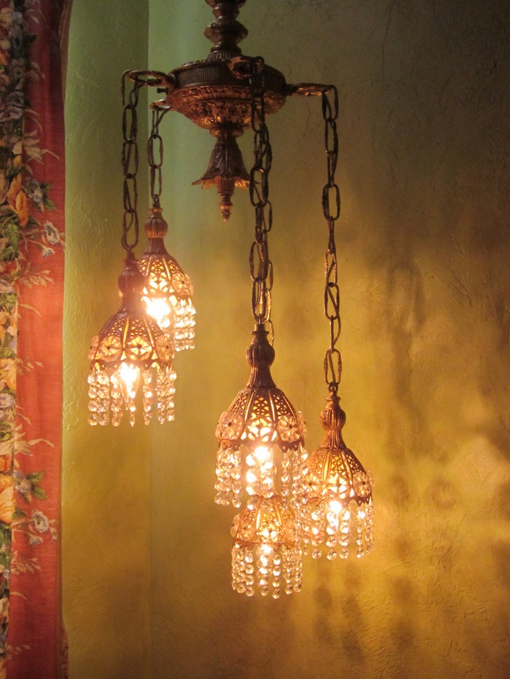 Vintage Chandelier Lighting, Turkish Pendant.