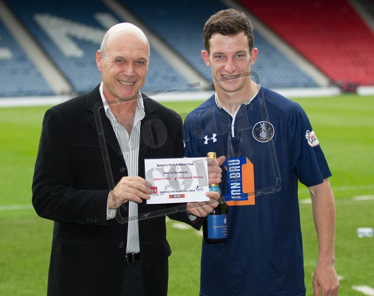 Queen's Park's David Galt - Man of the Match - after the IRN-BRU Cup game between Queen's Park and Morton