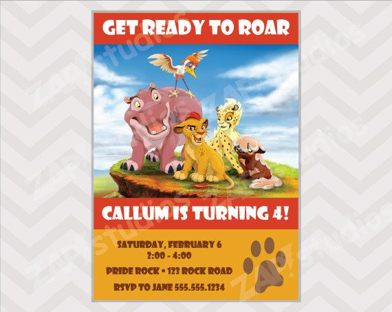 Best Lion Guard Birthday Party Ideas Images On Pinterest - Lion king birthday invitation template free