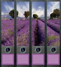 naklejki na segregatory: Provence (File Art) 4 szt. kojący widok pól lawendowych... 19,90 zł