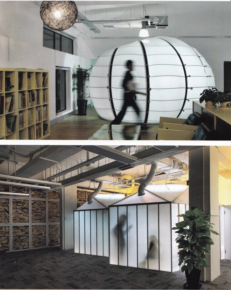 EDG Corps Office Pod PVC Skin And A Steel Frame From Interior Design Magazine