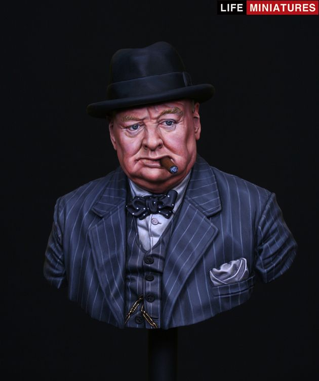 "LAST CAVALRY LLC - Life Miniatures - ""Never Surrender"", British Prime Minister Winston Churchill, $60.00 (http://shop.lastcavalry.com/life-miniatures-never-surrender-british-prime-minister-winston-churchill/)"