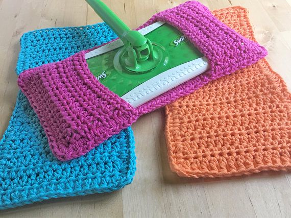 ***** Current turn around time is 21-36 days. ***** Crochet Swiffer Covers ~ Eco-friendly ~ Reusable Our crochet Swiffer covers work great! They are eco-friendly and reusable. Dont waste money on disposable swiffer pads! Our swiffer pads will last you for years. Once you are done