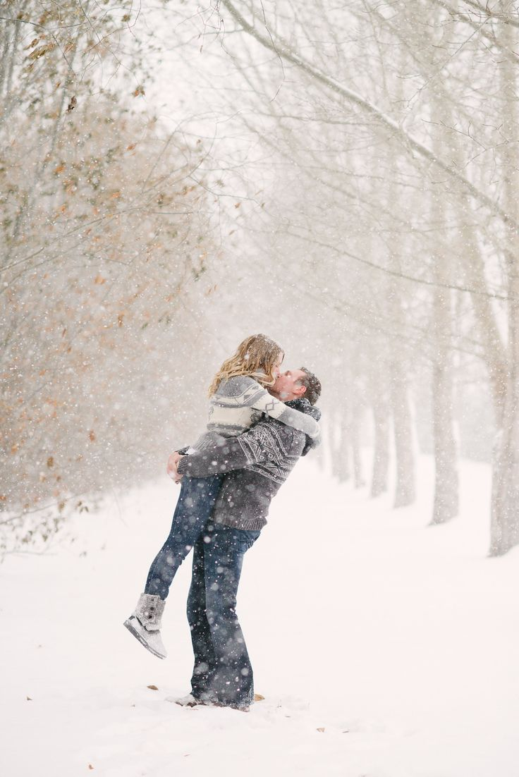 Snow Engagement Session | Milton Photography | See more on Style Me Pretty: http://www.stylemepretty.com/canada-weddings/alberta/rural-edmonton/2013/12/30/snow-engagement-session/
