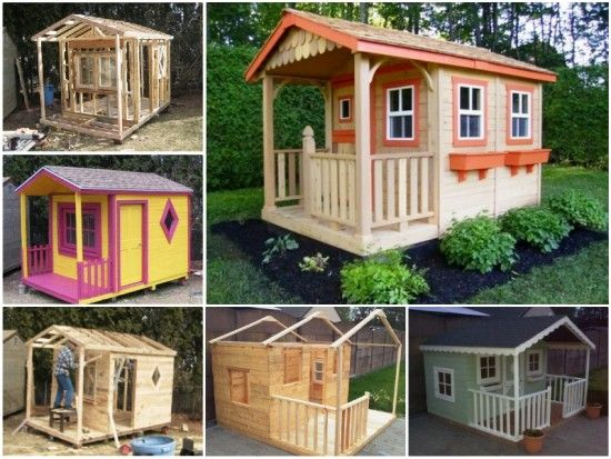Pallet playhouse is easy to make and looks great for Easy to build playhouse
