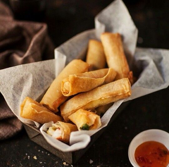 13 best food styling by spm images on pinterest food network appetizer prawn and mozzarella spring rolls with coriander forumfinder Choice Image