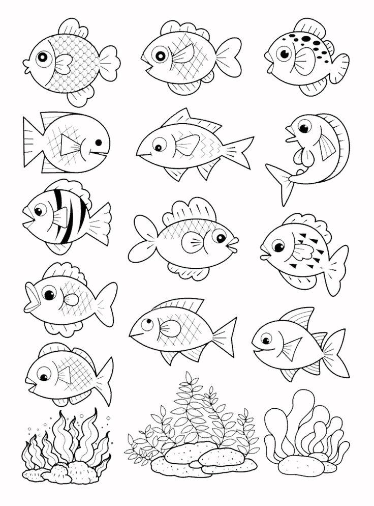 Раскраска-рыбки в 2020 г | Раскраски, Детские раскраски ...