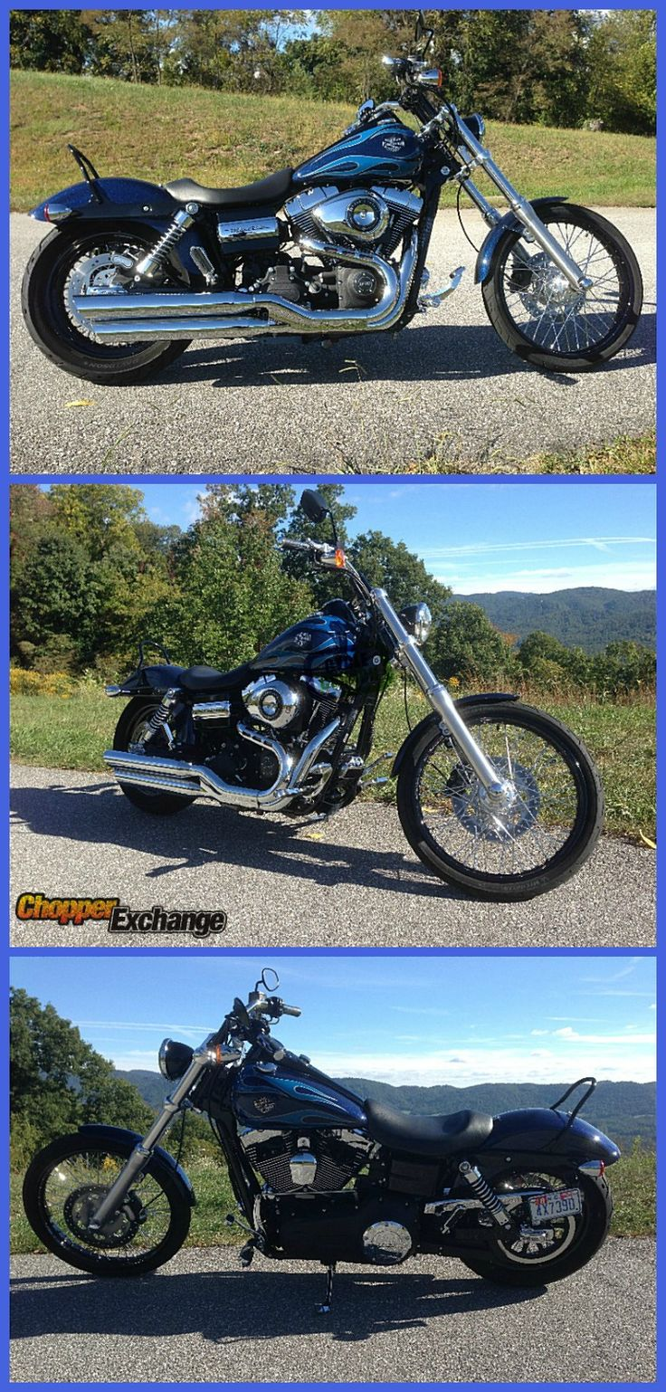 FOR SALE Harley-Davidson Dyna Wide Glide |   Located in Weaverville, NC |  Only 1879 mi |  Ready to ride! | Click the image for full listing or go to => www.ChopperExchange.com/493662 |  #dynanation #motorcycle #bike #chopperexchange #flames