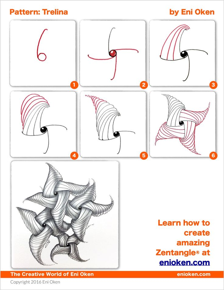 Learn how to create amazing Zentangle® • enioken.com                                                                                                                                                                                 More