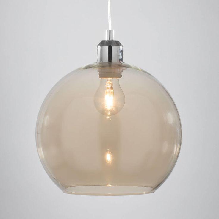Champagne clear glass globe pendant sphere light