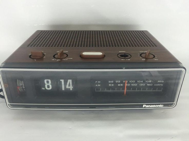 Vintage Panasonic Rc 6045 Flip Clock Radio Am Fm Alarm